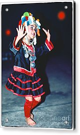 Acrylic Print featuring the photograph Cute Little Thai Girl Dancing by Heiko Koehrer-Wagner