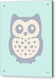Cute Owl Acrylic Print by Julia Jasiczak