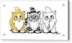Cutie Face Kitten Trio Acrylic Print