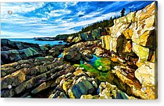 Cutler Coast At Fairy Head Acrylic Print by ABeautifulSky Photography