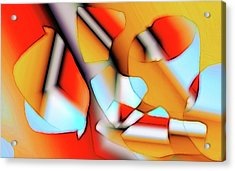 Acrylic Print featuring the digital art Cutouts by Ron Bissett