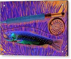 Cuttin' The Grass Acrylic Print