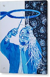 Cutting Down The Net - Dean Smith Acrylic Print