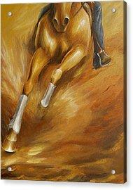 Cutting Horse Closeup 1 Acrylic Print