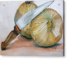 Cutting Onions Acrylic Print