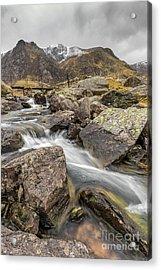 Cwm Idwal Rapids Acrylic Print by Adrian Evans