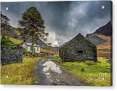 Cwmorthin Slate Ruins Acrylic Print by Adrian Evans
