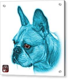 Cyan French Bulldog Pop Art - 0755 Wb Acrylic Print