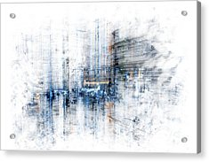 Cyber City Design Acrylic Print