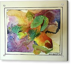 Acrylic Print featuring the painting Cyber-garden by P Maure Bausch