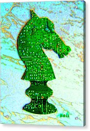 Cyber Knight Acrylic Print