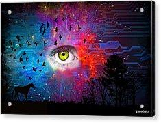 Cyber Nature Acrylic Print by Paulo Zerbato