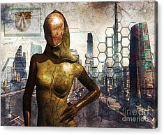 Cyber Queen Acrylic Print by Luca Oleastri
