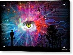 Cyber Sky Acrylic Print by Paulo Zerbato