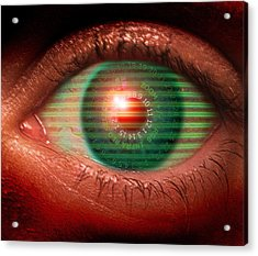 Cybernetic Eye Acrylic Print by Victor Habbick Visions