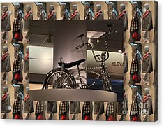 Acrylic Print featuring the photograph Cycle Bicycle Race Exercise Posters Pillows Curtains Tote Bags Towels Christmas Holidays Festivals  by Navin Joshi