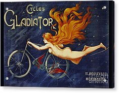 Cycles Gladiator  Vintage Cycling Poster Acrylic Print