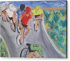Cycling By The Ocean Acrylic Print