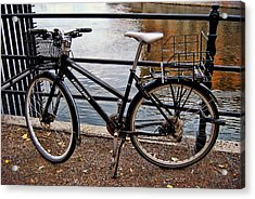 Cycling In Sweden Acrylic Print by JAMART Photography