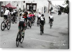 Cycling Red  Acrylic Print by Steven Digman