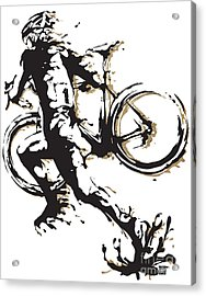 Acrylic Print featuring the painting Cyclocross Poster1 by Sassan Filsoof