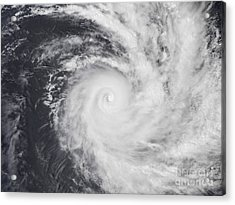 Cyclone Zoe In The South Pacific Ocean Acrylic Print by Stocktrek Images