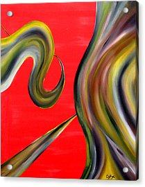 Acrylic Print featuring the painting Cyfyc by Cyryn Fyrcyd