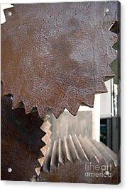 Cylindrical Gears Acrylic Print by Yali Shi