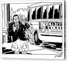 Cynthia Nixon For Governor Acrylic Print