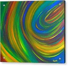 Acrylic Print featuring the painting Cynti by Cyryn Fyrcyd