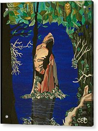 Acrylic Print featuring the painting Cypress Knee by Carolyn Cable