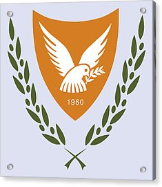Acrylic Print featuring the drawing Cyprus Coat Of Arms by Movie Poster Prints