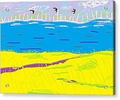 Cyprus Seascape At Morning Acrylic Print by Anita Dale Livaditis