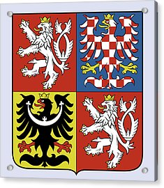 Czech Republic Coat Of Arms Acrylic Print by Movie Poster Prints