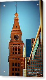 D-f Clock Tower Acrylic Print