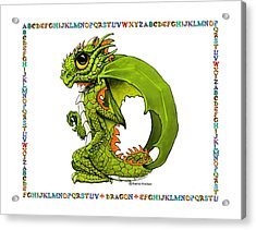 Acrylic Print featuring the digital art D Is For Dragon by Stanley Morrison