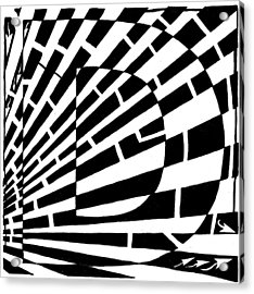 D Maze Acrylic Print by Yonatan Frimer Maze Artist