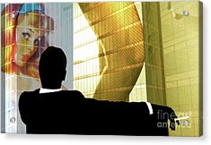 Don Draper, Mad Men, Includes Gil Elvgren Image ,sterling Cooper Pryce, Minimalist Graphic Design. Acrylic Print