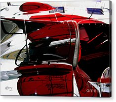 D Type Abstract Acrylic Print by Curt Johnson