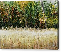 Acrylic Print featuring the painting D Vine by Lynn Babineau