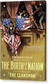 D W Griffith's Birth Of A Nation 1915 Acrylic Print