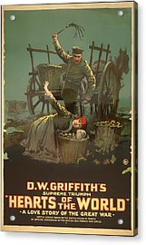 D W Griffith's Hearts Of The World 1918 Acrylic Print