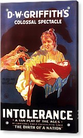 D W Griffith's Intolerance 1916 Acrylic Print by Mountain Dreams