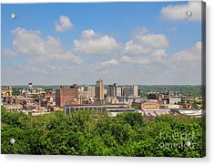 D39u118 Youngstown, Ohio Skyline Photo Acrylic Print