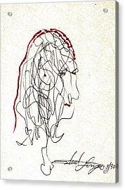 Da Vinci Drawing Acrylic Print