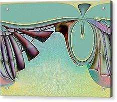 Da Vinci's Nudge Acrylic Print by Wendy J St Christopher