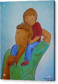 Daddy And Me Acrylic Print