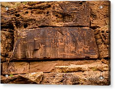Daddy Canyon Petroglyph - Nine Mile Canyon - Utah Acrylic Print