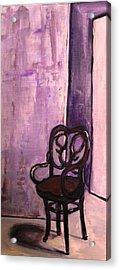 Daddy's Empty Chair Acrylic Print by Helena Bebirian