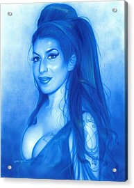 Amy Winehouse - ' Daddy's Girl ' Acrylic Print